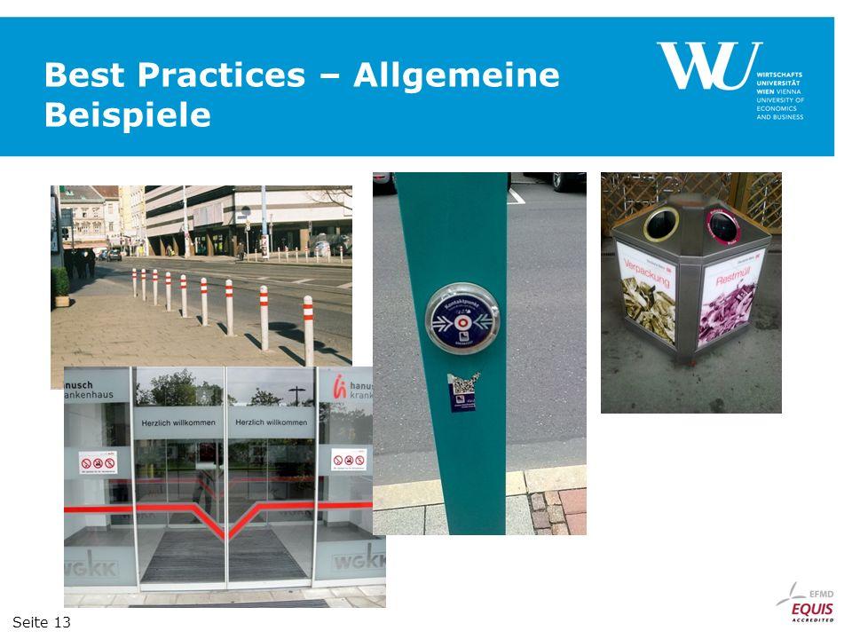 Best Practices – Allgemeine Beispiele