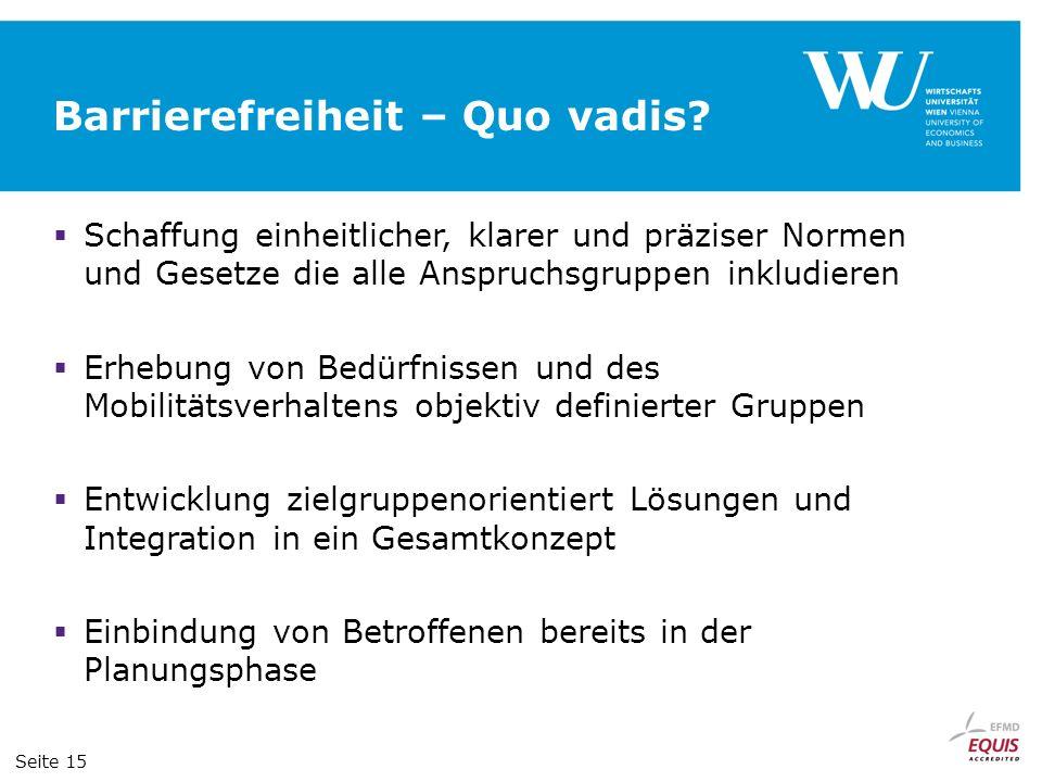 Barrierefreiheit – Quo vadis