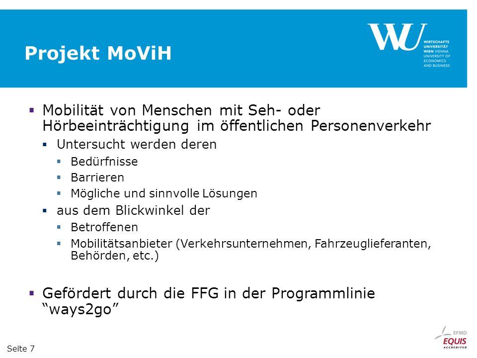 Projekt MoViH Mobilität von Menschen mit Seh- oder Hörbeeinträchtigung im öffentlichen Personenverkehr.