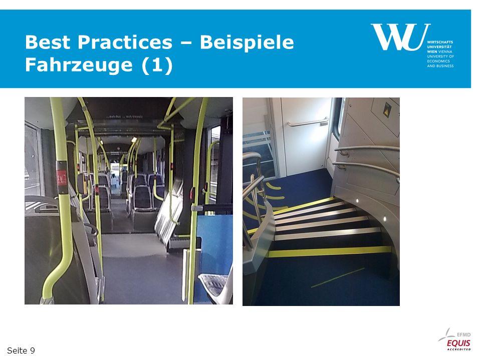 Best Practices – Beispiele Fahrzeuge (1)
