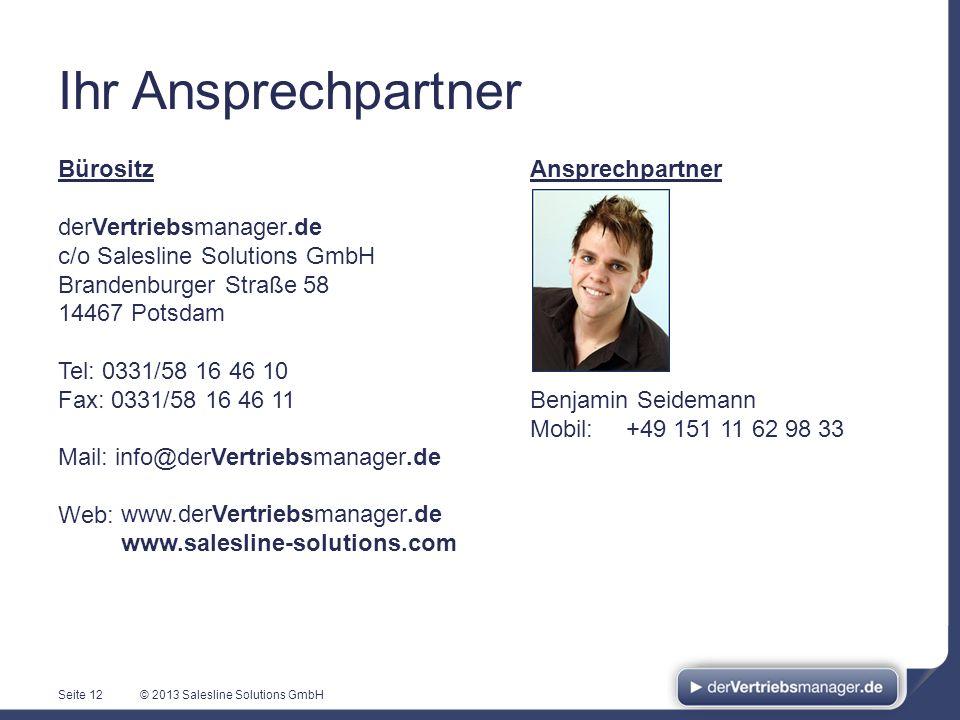 Ihr Ansprechpartner Bürositz derVertriebsmanager.de