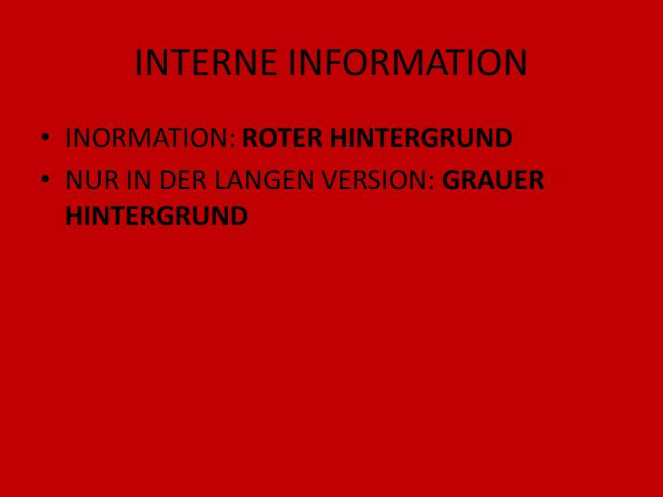INTERNE INFORMATION INORMATION: ROTER HINTERGRUND