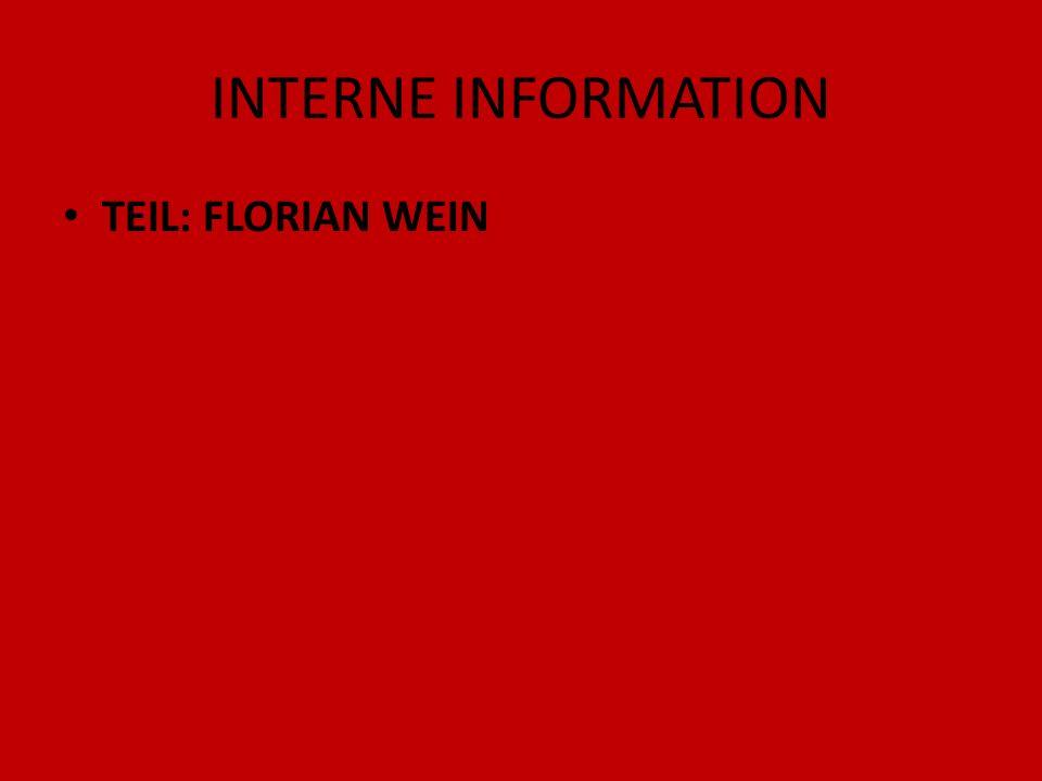 INTERNE INFORMATION TEIL: FLORIAN WEIN