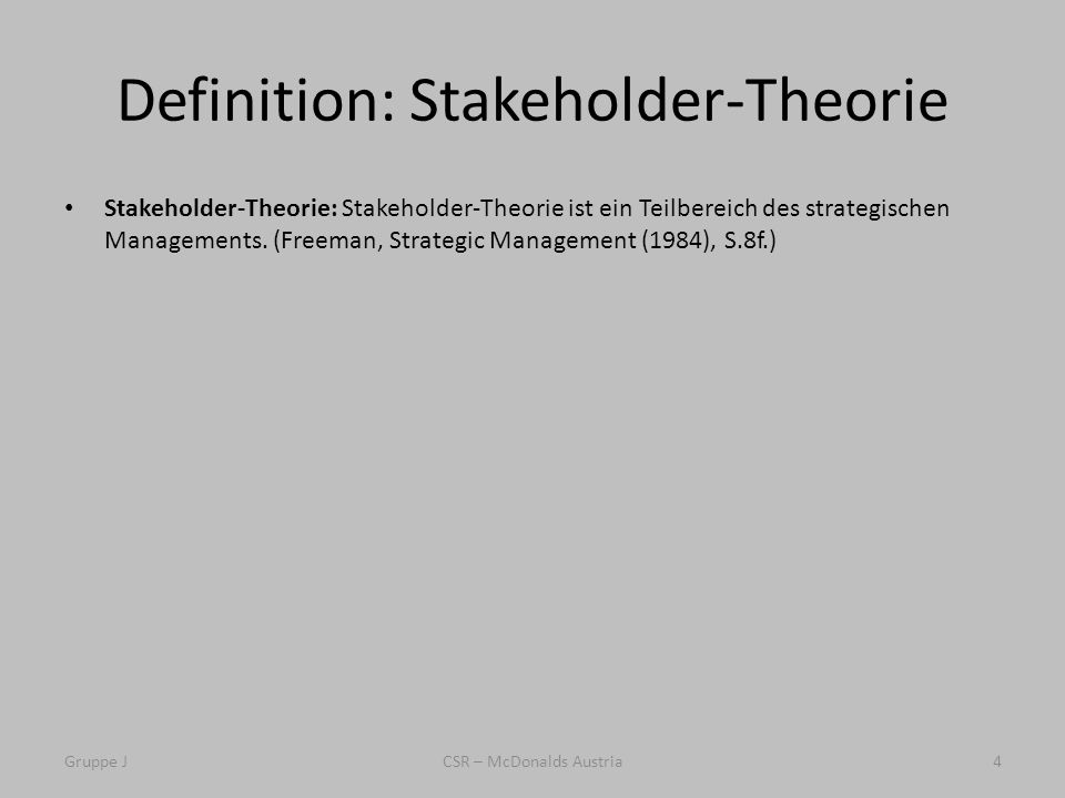 Definition: Stakeholder-Theorie