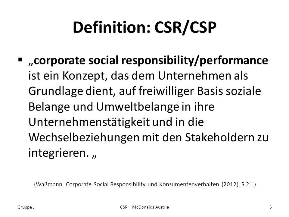 CSR – McDonalds Austria