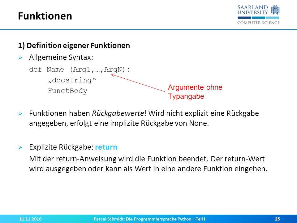 Pascal Schmidt: Die Programmiersprache Python – Teil I