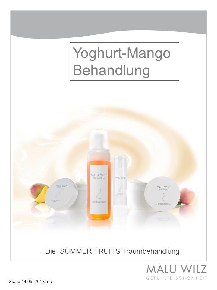 Yoghurt-Mango Behandlung Die SUMMER FRUITS Traumbehandlung