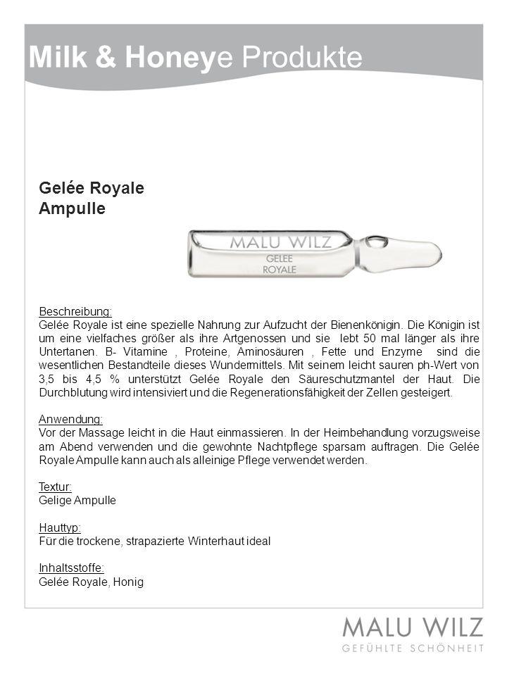 Milk & Honeye Produkte Gelée Royale Ampulle Beschreibung: