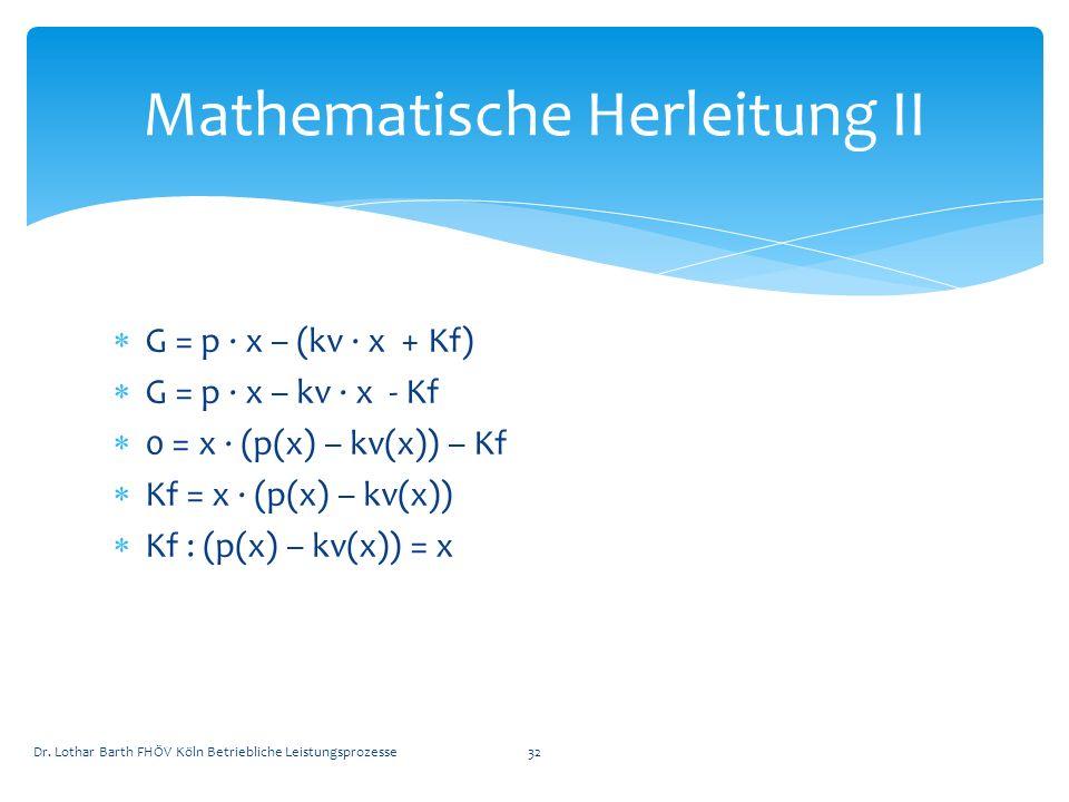 Mathematische Herleitung II