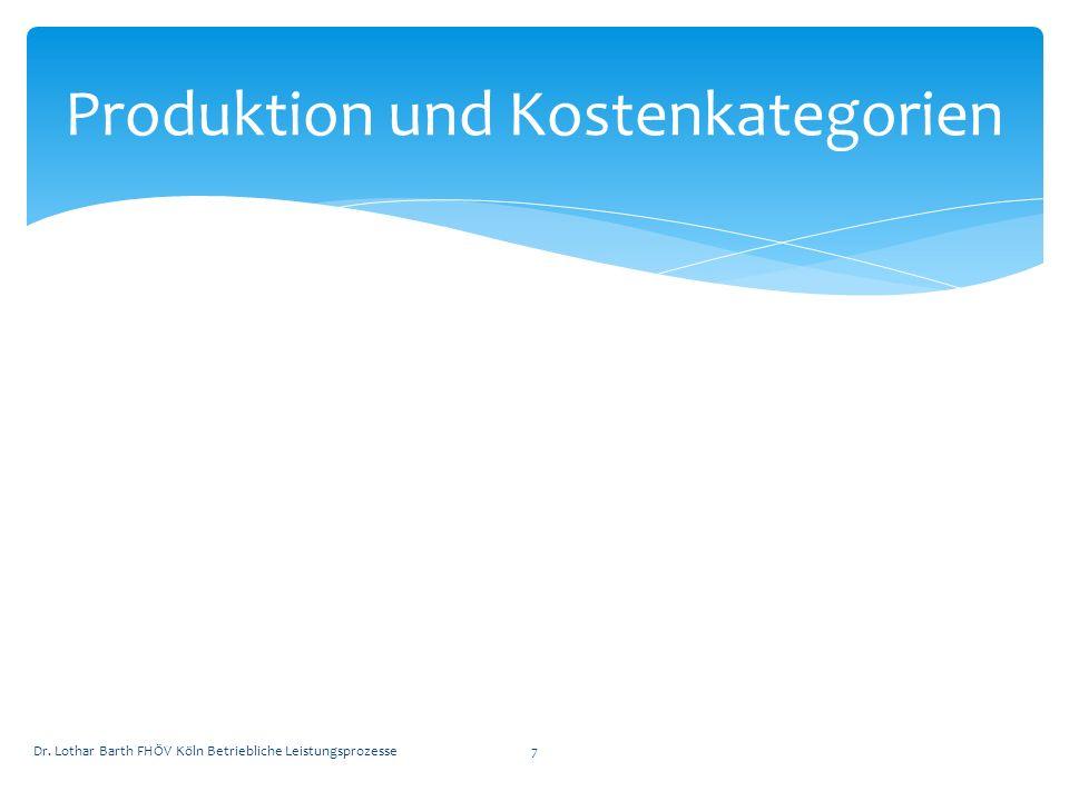 Produktion und Kostenkategorien
