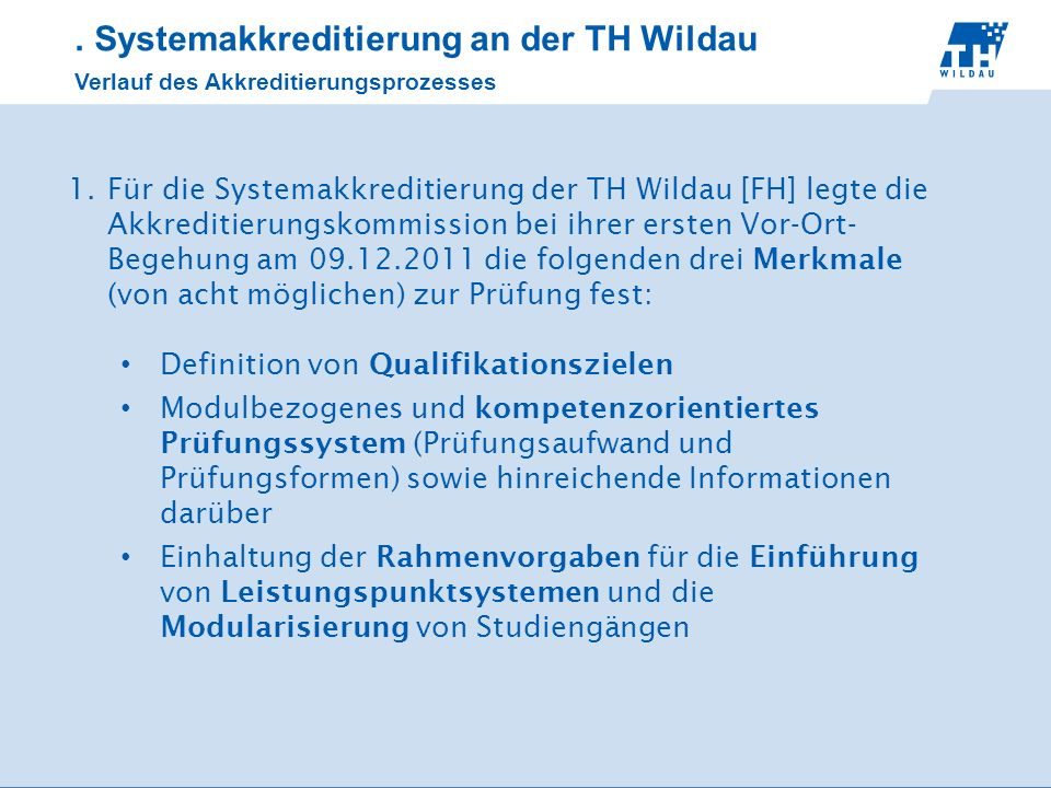 . Systemakkreditierung an der TH Wildau