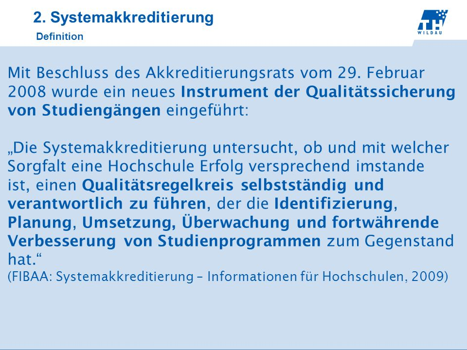 2. Systemakkreditierung