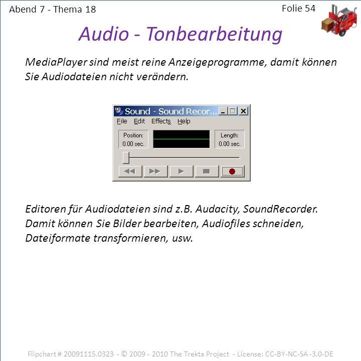 Audio - Tonbearbeitung