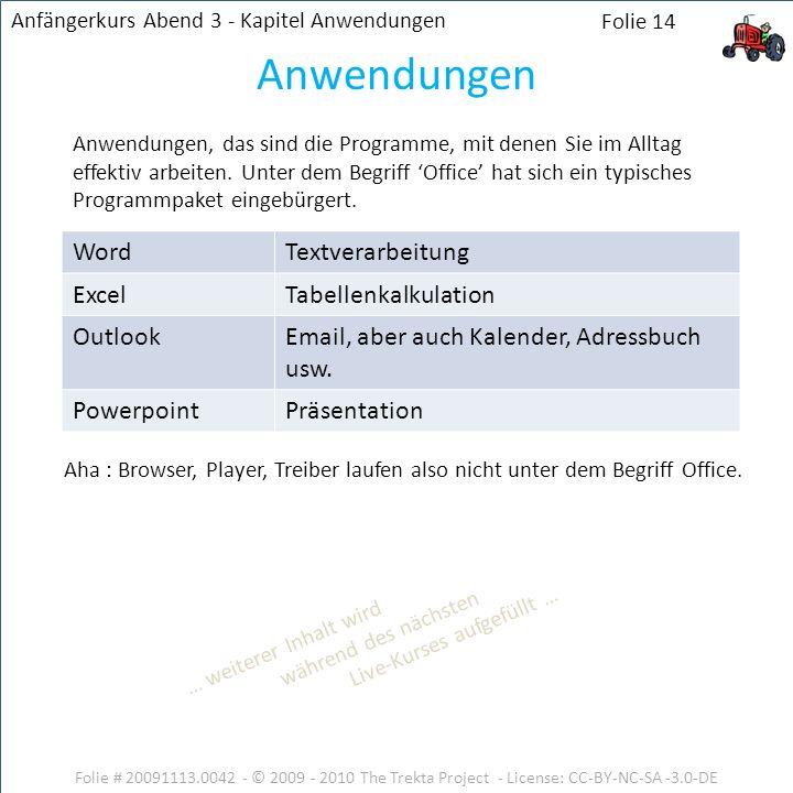Anwendungen Word Textverarbeitung Excel Tabellenkalkulation Outlook