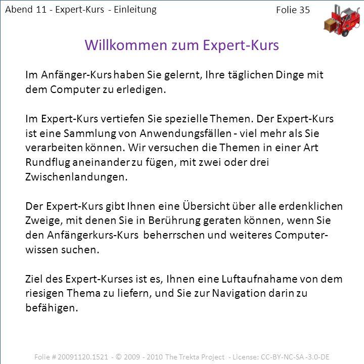 Willkommen zum Expert-Kurs