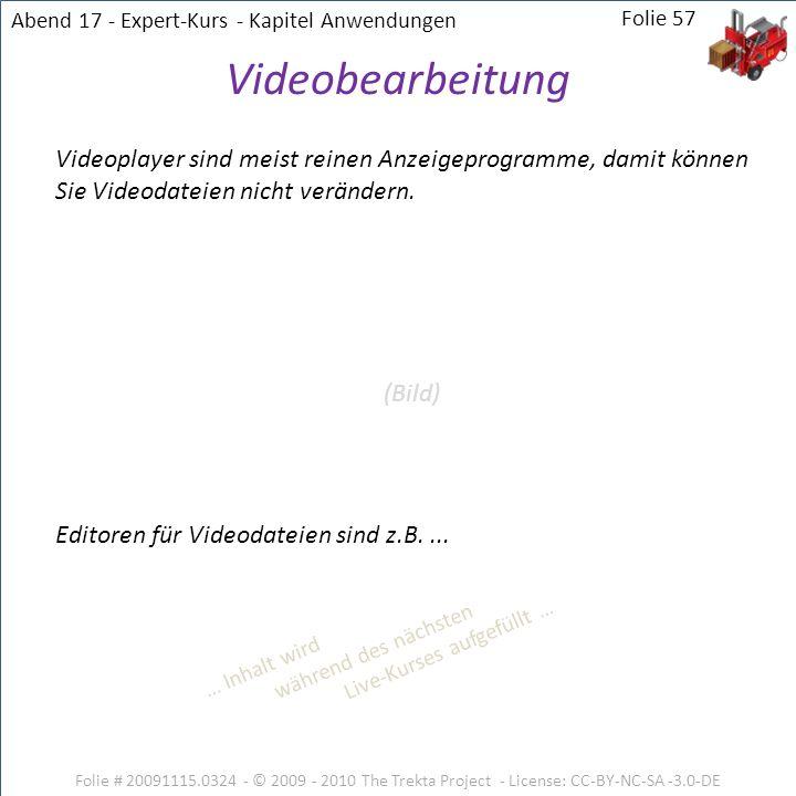 Abend 17 - Expert-Kurs - Kapitel Anwendungen