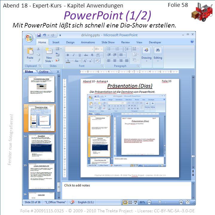 Abend 18 - Expert-Kurs - Kapitel Anwendungen