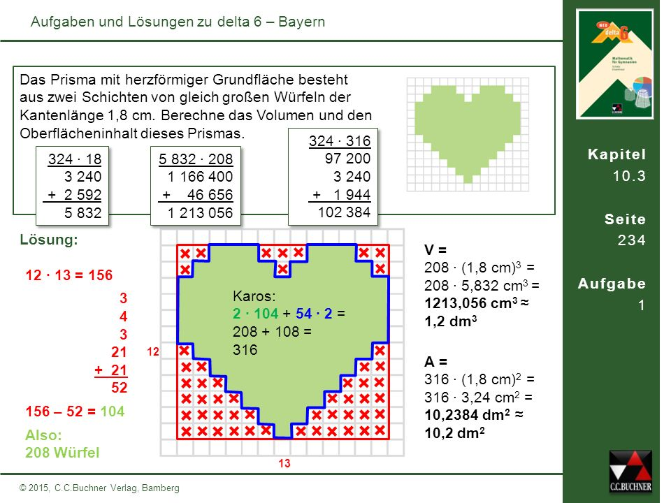 Aufgaben und Lösungen zu delta 6 – Bayern