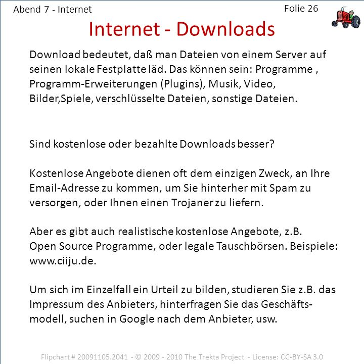 Abend 7 - Internet Internet - Downloads.