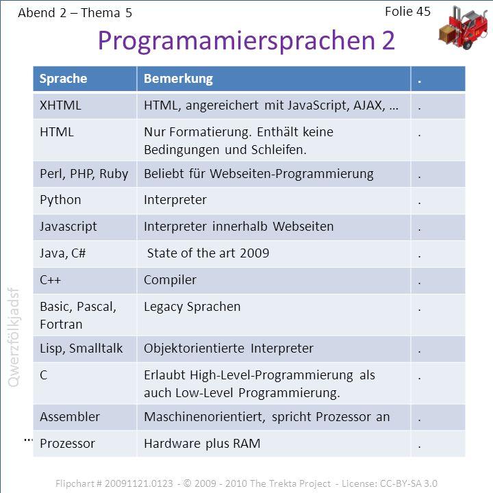 Programamiersprachen 2