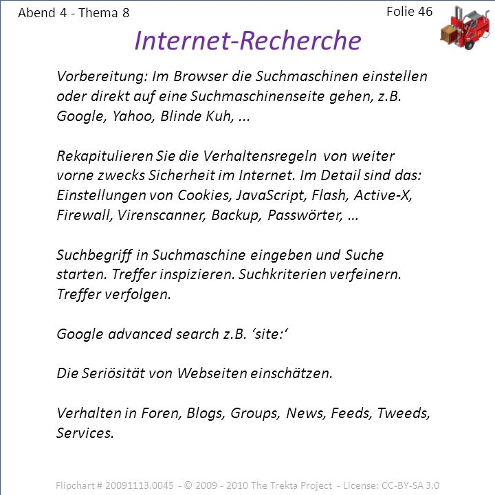 Abend 4 - Thema 8 Internet-Recherche.