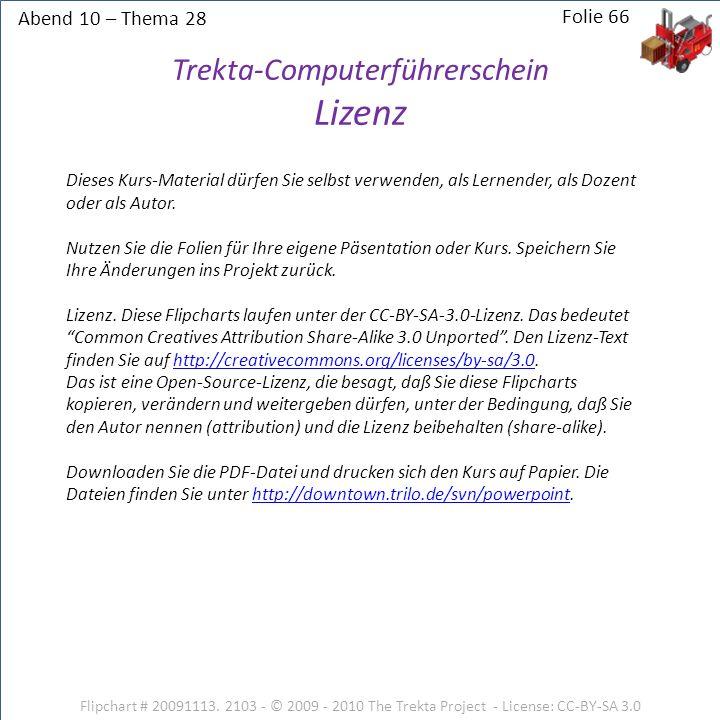 Trekta-Computerführerschein Lizenz
