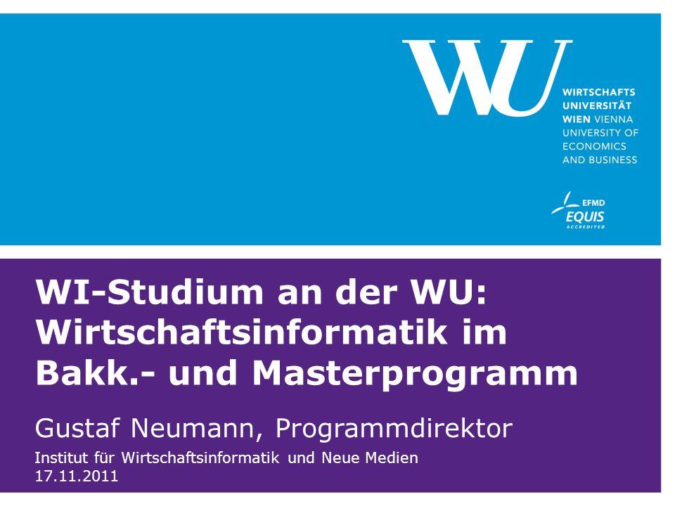 WI-Studium an der WU: Wirtschaftsinformatik im Bakk