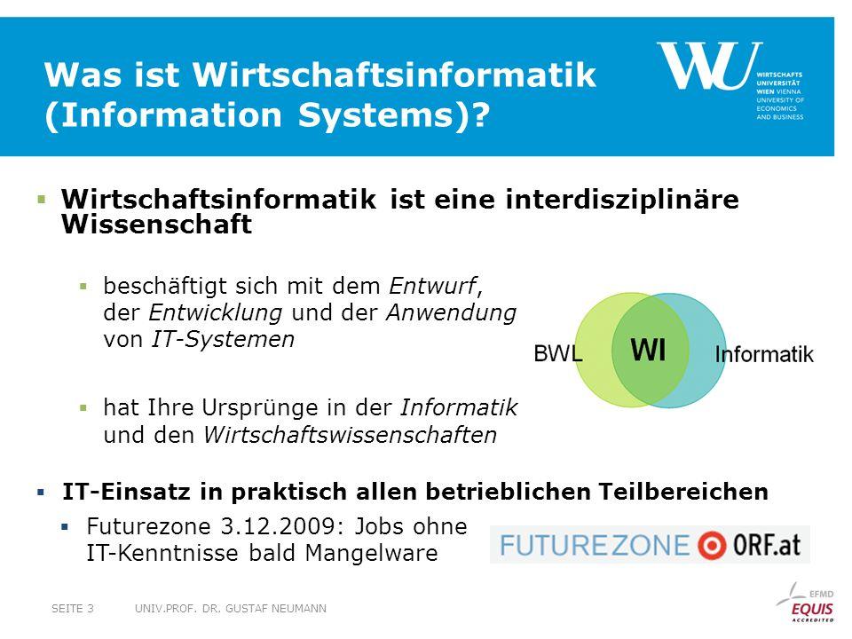Was ist Wirtschaftsinformatik (Information Systems)