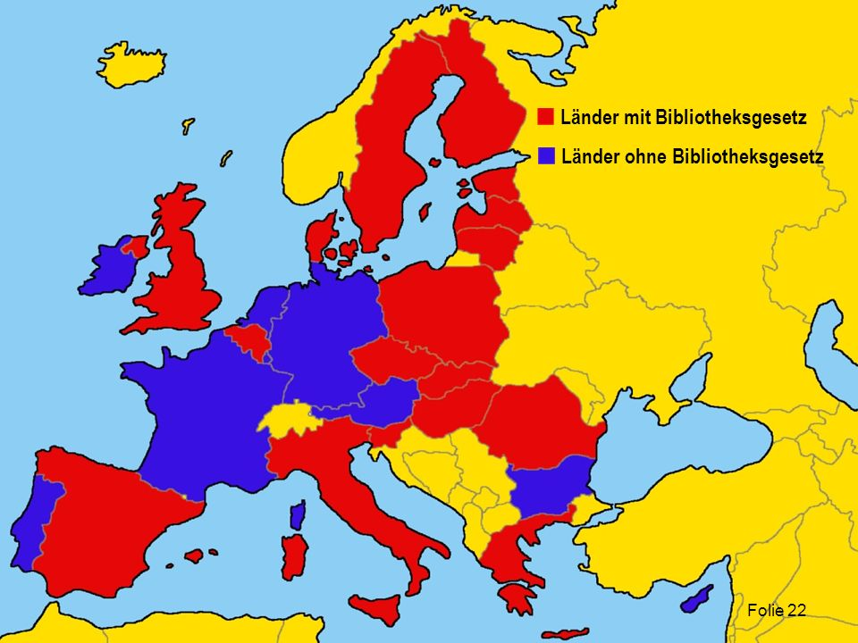 Länder mit Bibliotheksgesetz