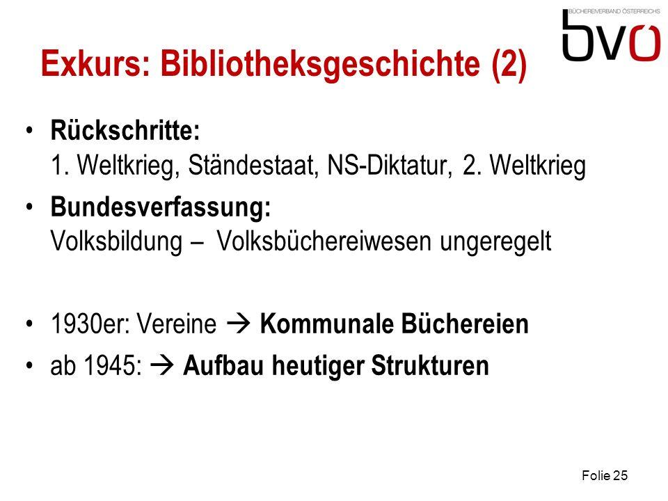 Exkurs: Bibliotheksgeschichte (2)