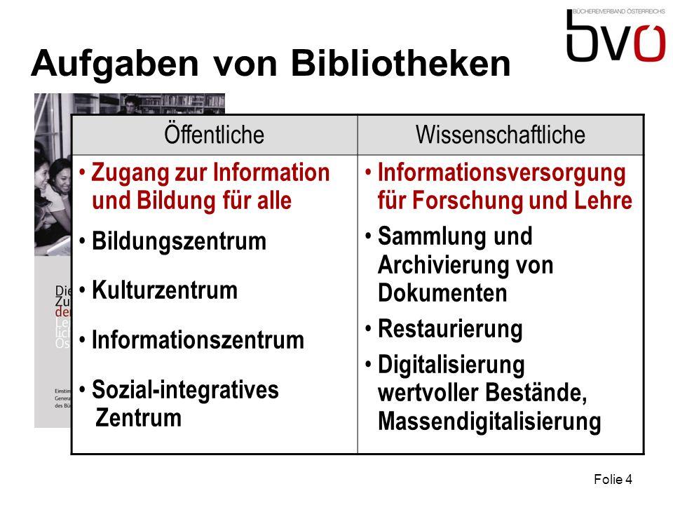 Aufgaben von Bibliotheken