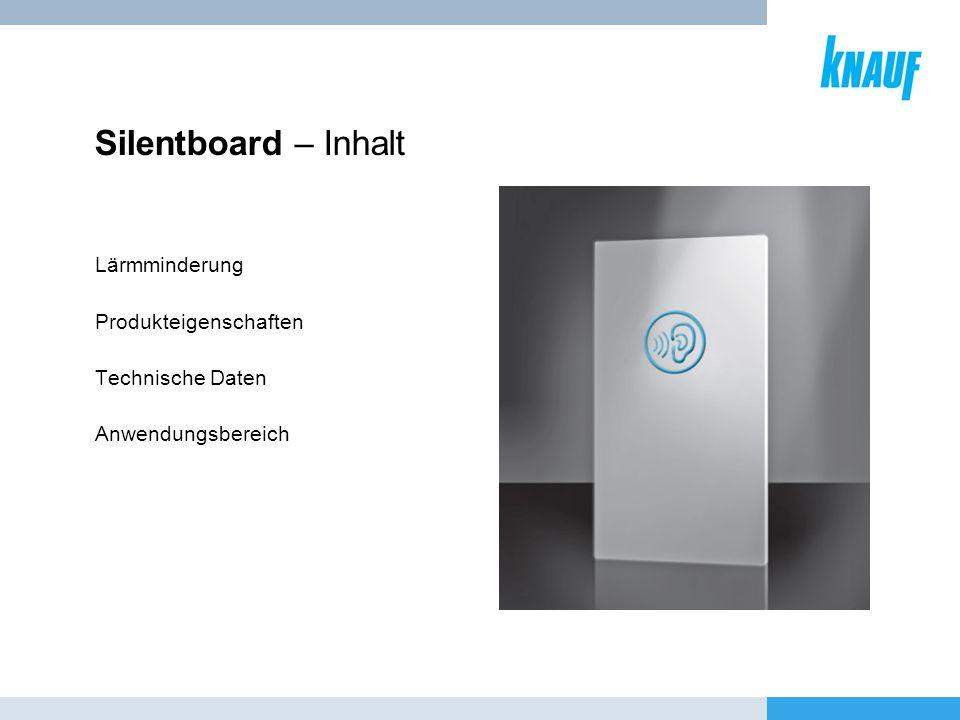 Silentboard – Inhalt Lärmminderung Produkteigenschaften