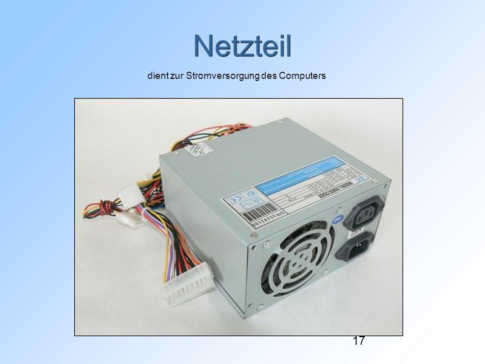 dient zur Stromversorgung des Computers
