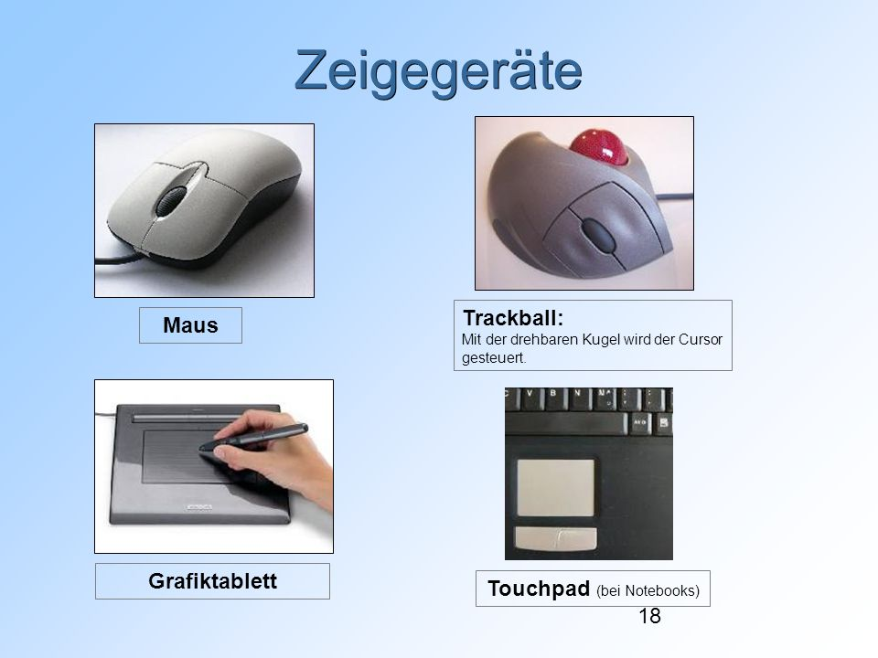 Touchpad (bei Notebooks)‏
