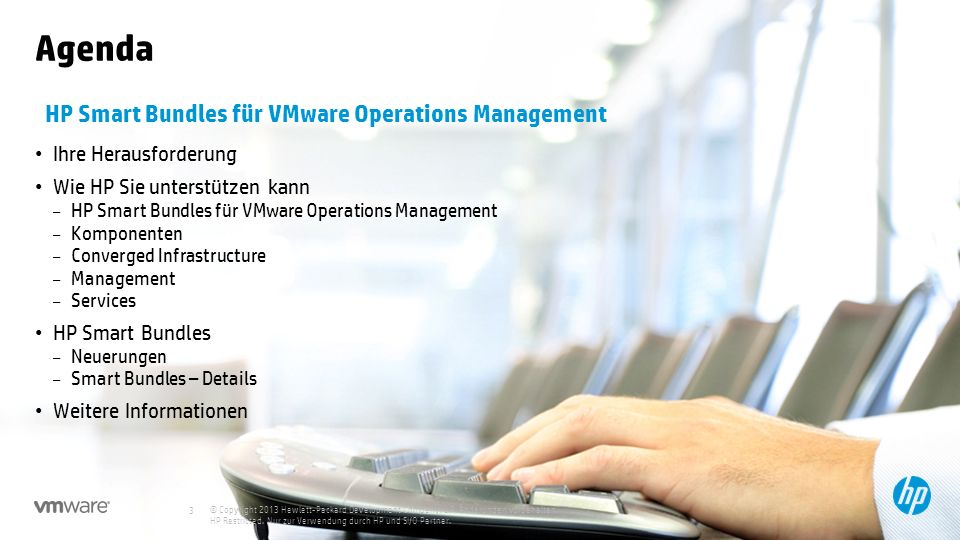Agenda HP Smart Bundles für VMware Operations Management