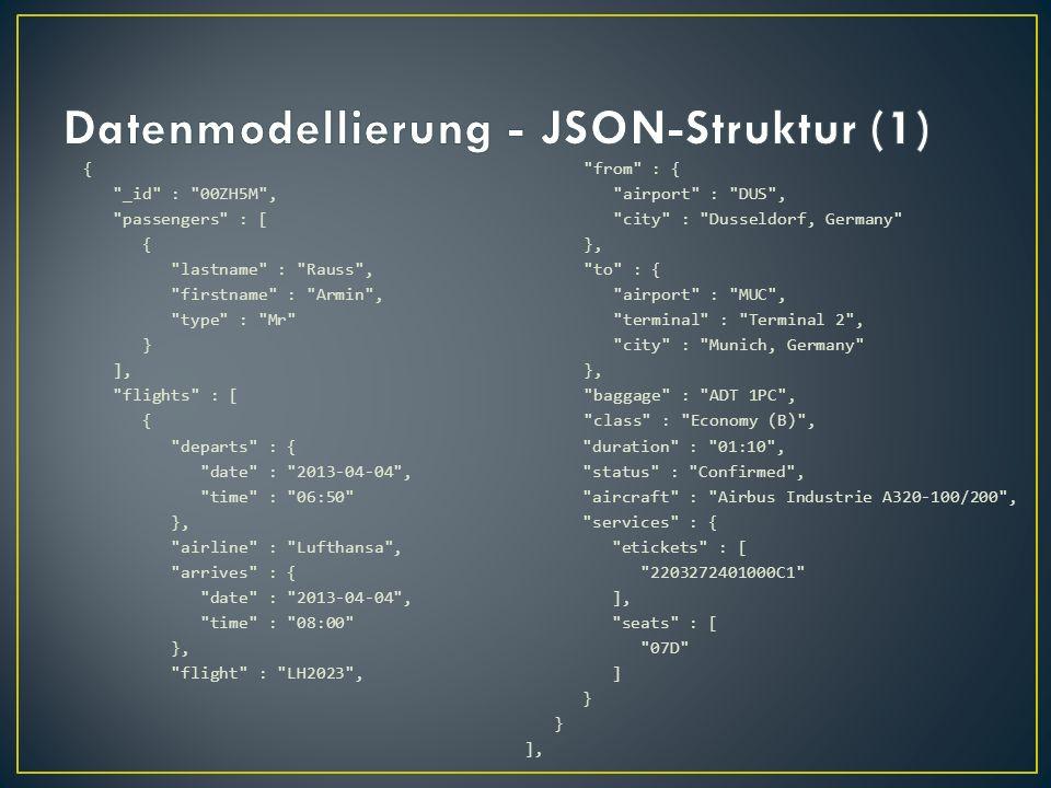 Datenmodellierung - JSON-Struktur (1)