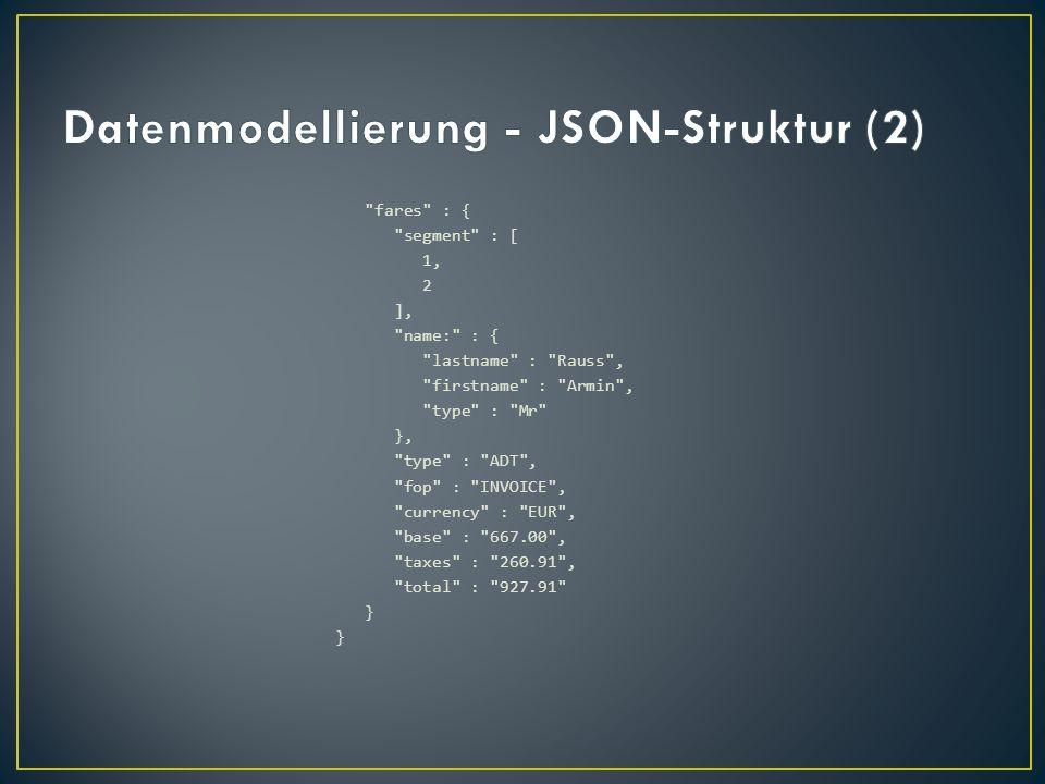 Datenmodellierung - JSON-Struktur (2)