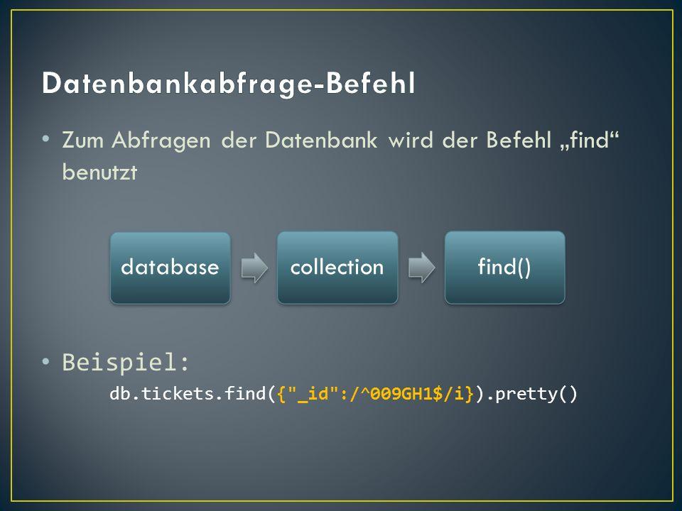Datenbankabfrage-Befehl