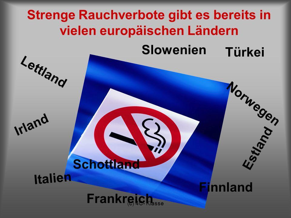 Strenge Rauchverbote gibt es bereits in vielen europäischen Ländern