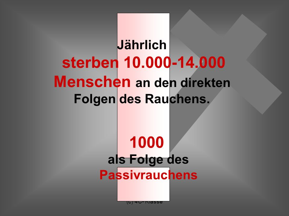 1000 als Folge des Passivrauchens