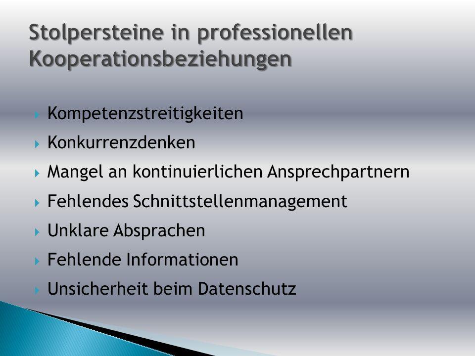 Stolpersteine in professionellen Kooperationsbeziehungen