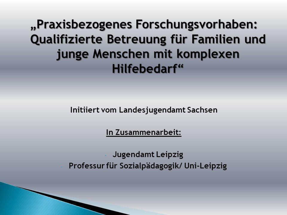 """""""Praxisbezogenes Forschungsvorhaben: Qualifizierte Betreuung für Familien und junge Menschen mit komplexen Hilfebedarf"""
