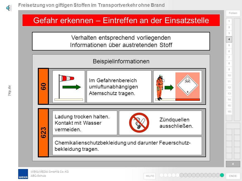Freisetzung von giftigen Stoffen im Transportverkehr ohne Brand