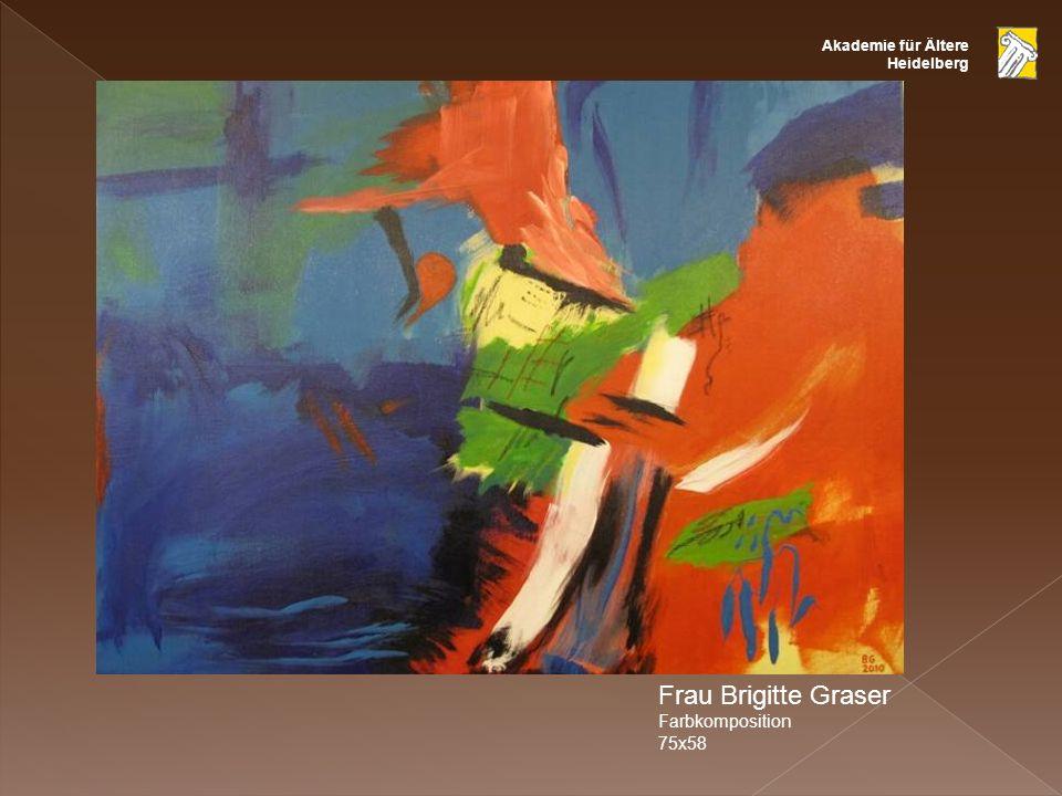 Frau Brigitte Graser Farbkomposition 75x58