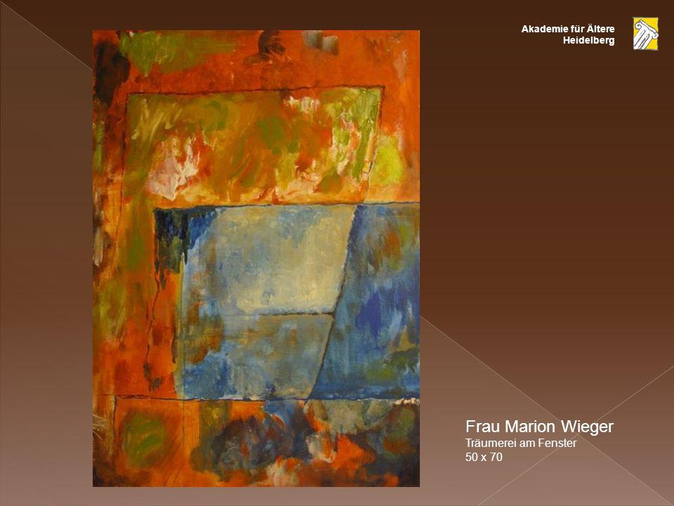 Frau Marion Wieger Träumerei am Fenster 50 x 70