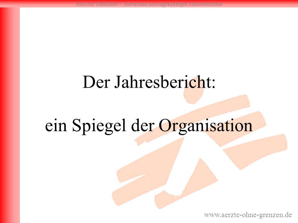 Der Jahresbericht: ein Spiegel der Organisation