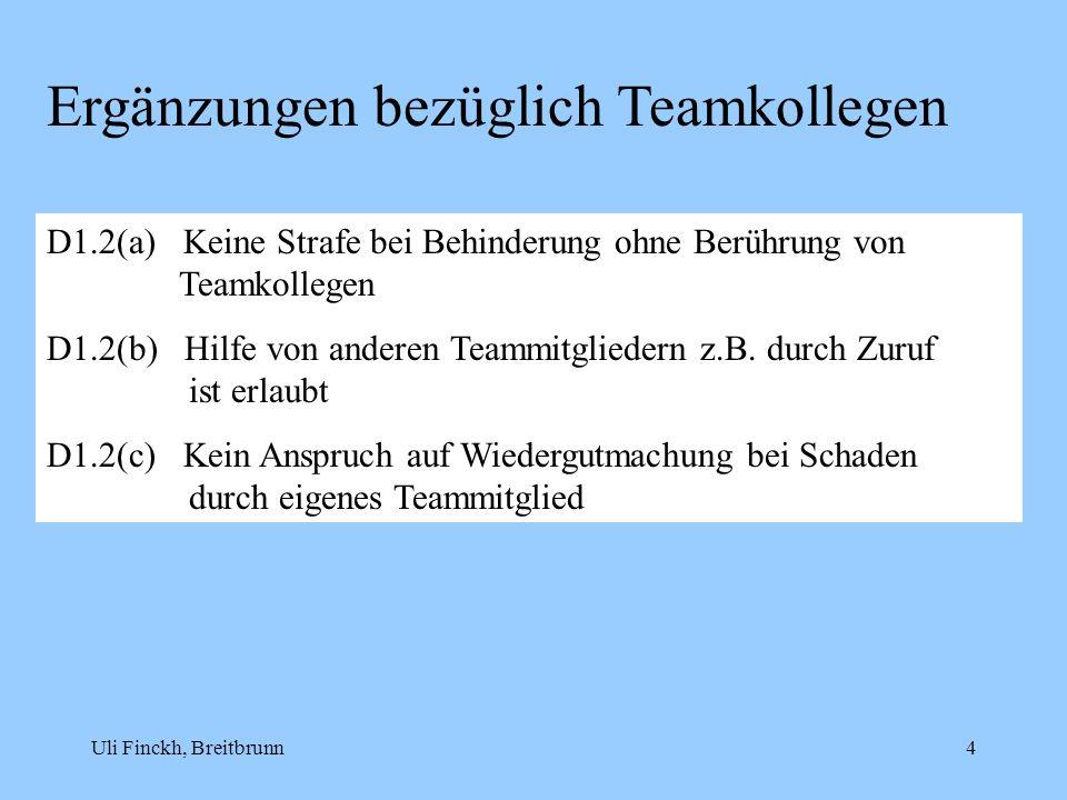 Ergänzungen bezüglich Teamkollegen