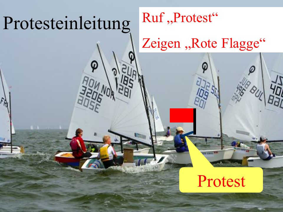 "Protesteinleitung Protest Ruf ""Protest Zeigen ""Rote Flagge"