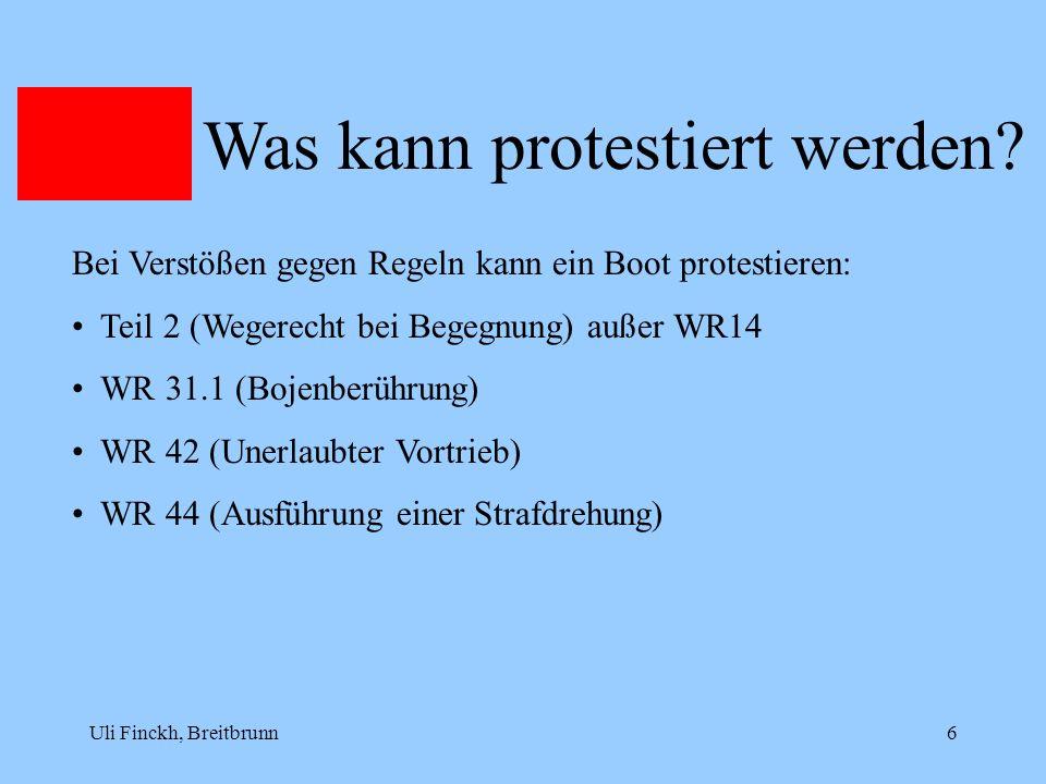 Was kann protestiert werden
