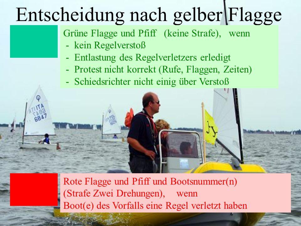 Entscheidung nach gelber Flagge